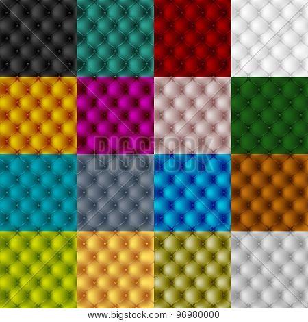 set leather upholstery furniture. textured background. vector illustration eps10