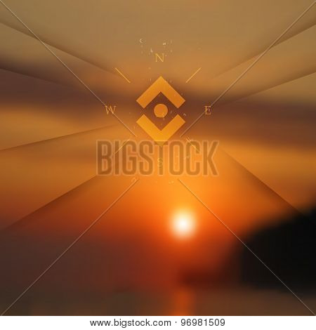 Warm Neutral Colors Sunset Vector Illustration