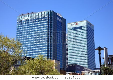 Barclay and HSBC Towers at Canary Wharf