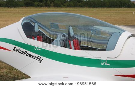 Thiene, Vicenza - Italy. 26Th July, 2015: Light Aircraft In The Italian Airport