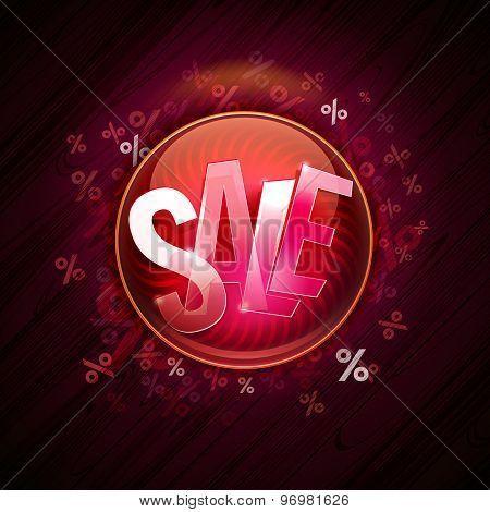 Winter Hot Sale Offer Pin At Dark Background