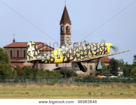 Thiene, Vicenza - Italy. 26Th July, 2015:military Plane With Camouflage Colors