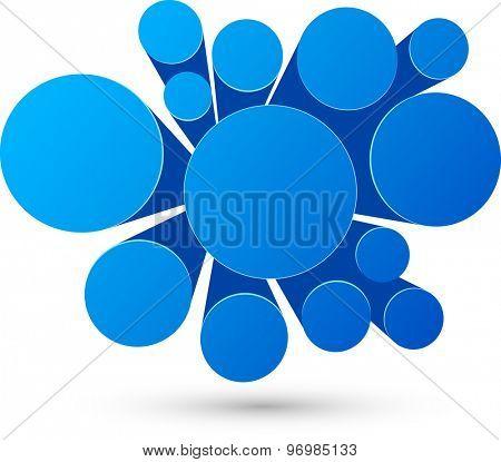 Bubble blue  infographics perspective design. Vector illustration.