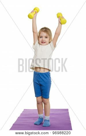 Four-year-girl Lifted Dumbbells Over A