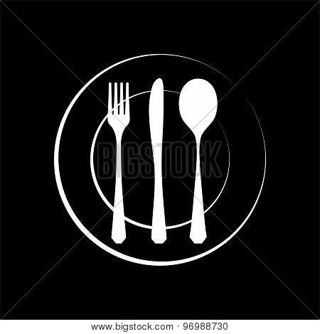 Cutlery silhouette
