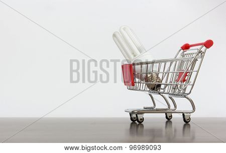 Shopping Cart With Saving Lamp