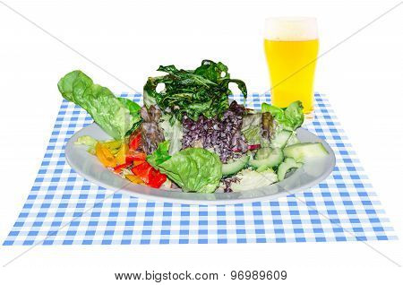 Bavarian Salad With Beer Glass