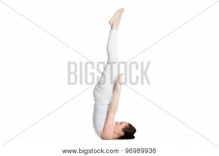 Unsupported Shoulderstand Yoga Asana