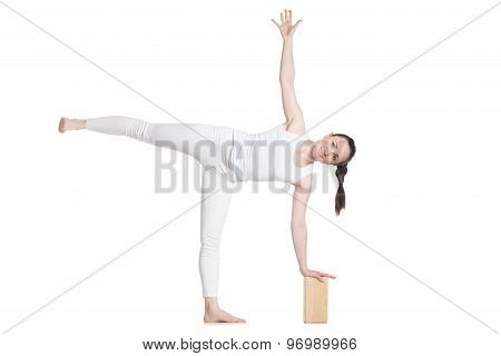 Yoga With Props, Pose Ardha Chandrasana