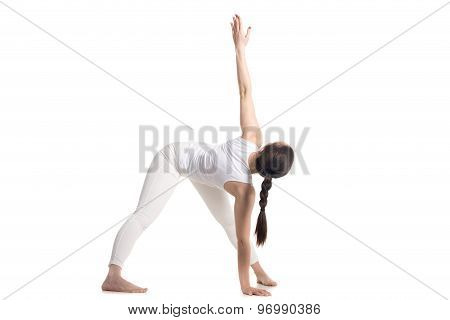 Variation Of Yoga Trikonasana Pose