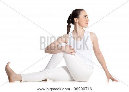 Variation Of Ardha Matsyendrasana Yoga Pose