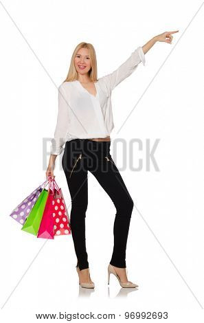 Smiling young woman isolated on white
