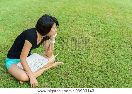 Asian Girl Rest Her Eyes