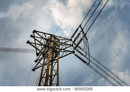 High Voltage Electricity Post Junction