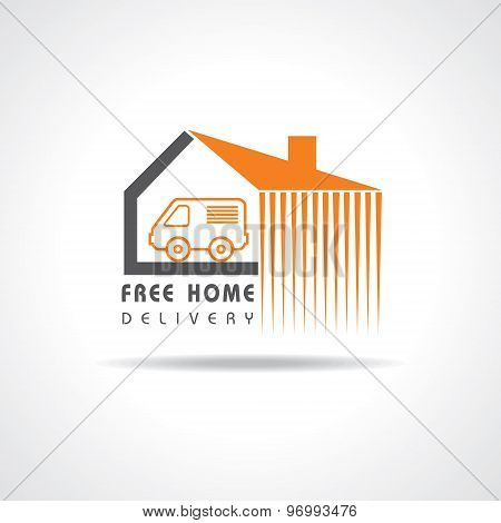Free Home Delivery concept for increase the sell stock vector