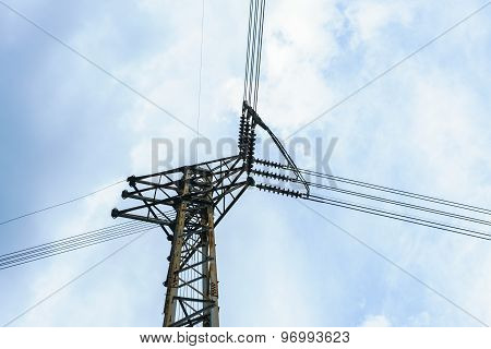 Post Junction Of The High Voltage Electricity