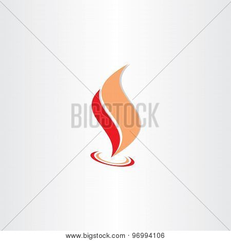 Fire Flame Icon Abstract Logo Element