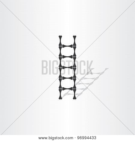 Step Ladder With Bones Vector Illustration