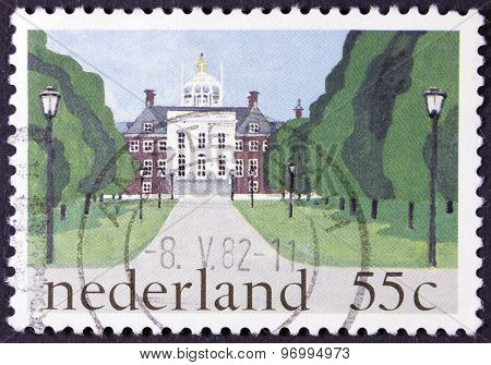 Royal palace on a postage stamp.