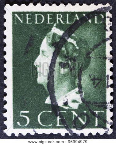 Portrait on a postage stamp