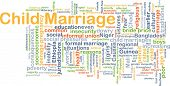 foto of dowry  - Background concept wordcloud illustration of child marriage - JPG