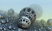 stock photo of fantastic  - Background with fantastic 3D spheres - JPG