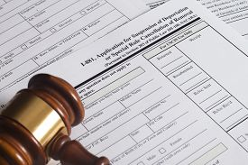 stock photo of suspension  - Application Suspension of Deportation or special rule cancellation of removal - JPG