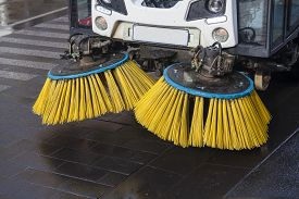 stock photo of sweeper  - Close - JPG