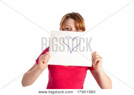 Girl Holding Signs