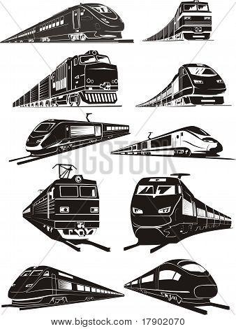 Train Silhouettes