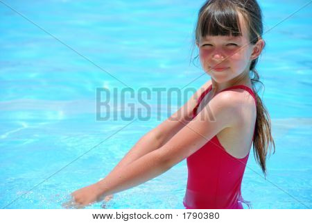 Happy Girl In Pool