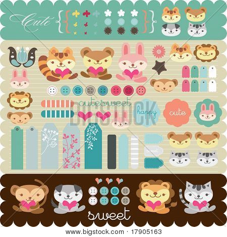 scrapbook elements for any use