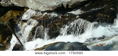 Water Falling Over Rocks