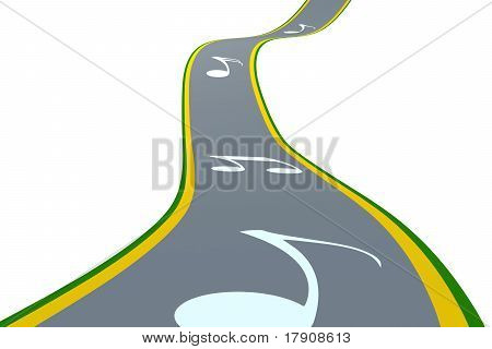 The Road With Musical Notes