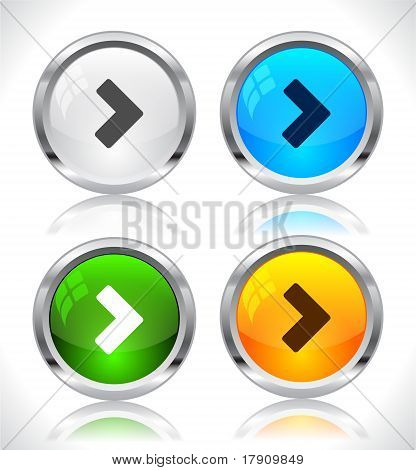 Metal web buttons.
