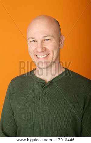 Happy Middle-aged Caucasian Man