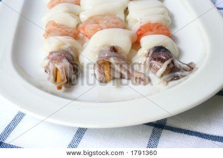 Three Fish Kebabs