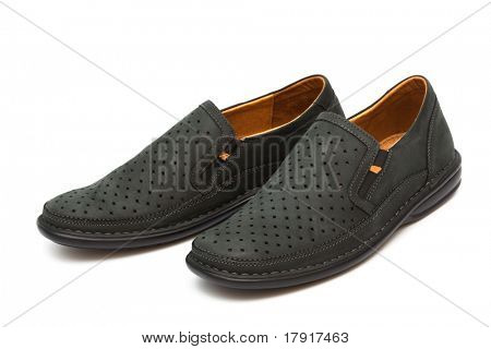 new moccasins on a white background