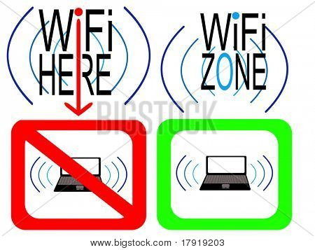 wifi zone wifi allowed and prohibited signs