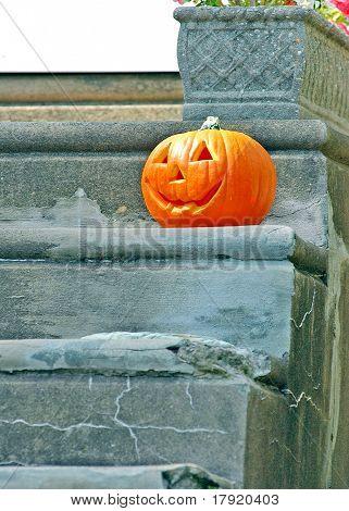 Jackolantern  on steps