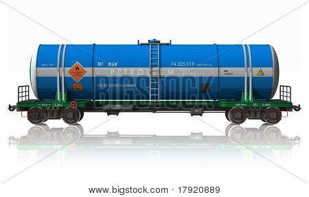 Gasoline tanker railroad car