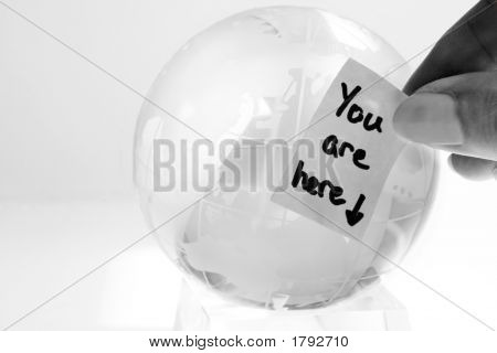 Glass Globe With A Message