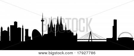 Cologne Silhouette black abstract