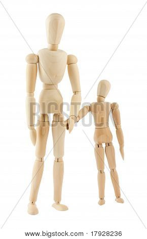 Big And Small Wooden Figures