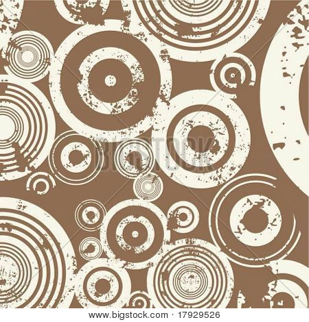Grunge circle background - vector
