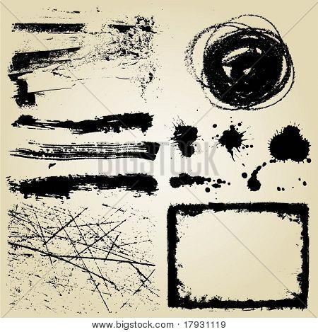 Grunge design elements