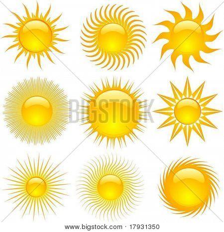 Iconos de sol