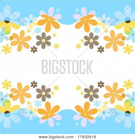 Spring flower background - vector