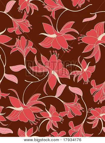 Vector Floral Wallpaper Seamless Pattern
