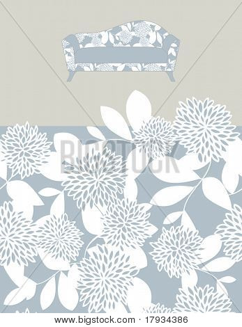 Vector Seamless Pattern and furniture
